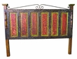 Mexican Painted Wood Headboard