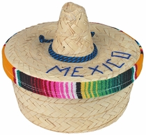 Mexican Palm Tortilla Basket with Sombrero Lid