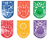 Mexican Papel Picado Banners - Fiesta Decorations