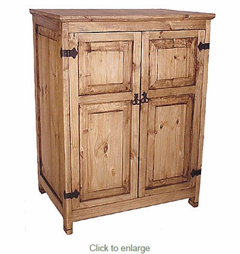 Mexican Pine TV/VCR Armoire - Free Shipping
