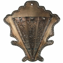 Mexican Punched Aged Tin Cone Wall Sconce