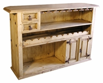 Mexican Rustic Pine Bar