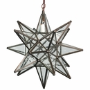 Mexican Seeded Bubble Glass Hanging Star Fixture