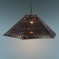 Mexican Tin Hex Diamond Hanging Pendant Shade