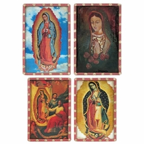 Mexican Virgin of Guadalupe Refrigerator Magnets - Set of 4