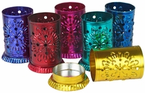 Mini Colored Tin Luminarias - Pack of 2