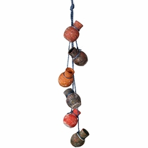 Mini Dangling Clay Pots on Rope - Set of 2