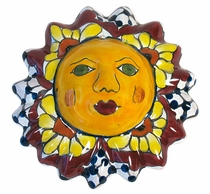 Mini Talavera Sun Faces - Set of 3