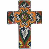 Mini Thick Talavera Cross