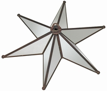 Antiqued Mirrored Glass Star Ceiling Plate