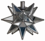 Mirrored Glass & Tin Star Candleholder