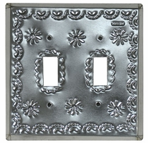 Natural Tin Double Switchplate