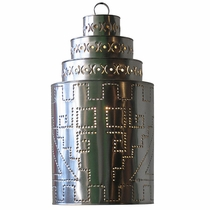 Natural Tin Southwest Cylinder Light Fixture