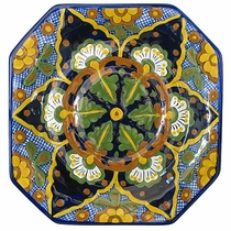 Octagonal Talavera Mexican Dining Plate