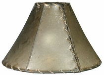 Oiled Rawhide Lamp Shade