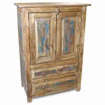 Old Wood Armoire - 2 Doors and 4 Drawers
