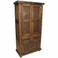 Old Wood Armoire with Rustic Metal Panels
