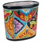 Oval Talavera Waste Basket