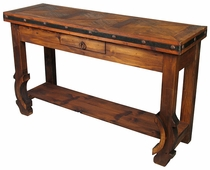 Ox Yoke Sofa Table with Iron Band