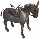 Pack Burro Metal Yard Art Sculpture