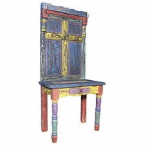 Painted Coat Rack Entry Stand