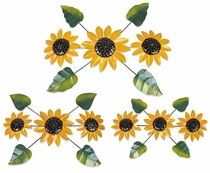 Painted Metal Sunflower Wall Art Sculptures