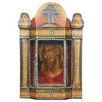 Painted Tin Cross Nicho