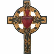 Painted Tin Gold Leaf Cross