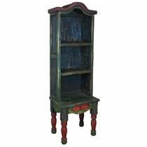 Rustic Painted Wood Chair Bookcase