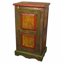 Painted Wood Storage Cabinet Armoire