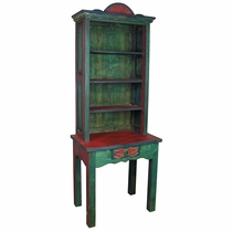 Painted Wood Table Book Shelf