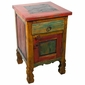 Painted Wood Tall Nightstand with Slate Top