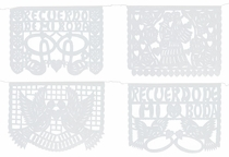 Paper Picado Wedding Banners - White - Set of 2