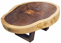 Parota Wood Free Form Slab Coffee Table