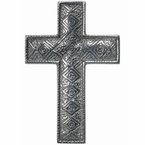 Pewter Geometric Cross