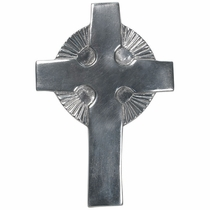 Pewter Smooth Sunburst Crosses