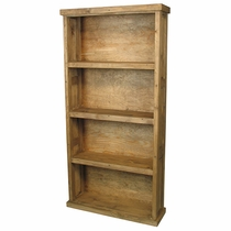 Plain Rustic Wood Bookcase