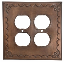 Punched Tin 4 Outlet Cover - Star