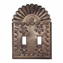Punched Tin Double Switch Plate - Star & Crown