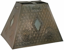 Rectangular Tin Shade - Frosted Glass