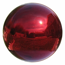 Red Glass Gazing Balls