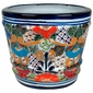 Ringed Talavera Flower Pot