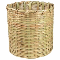 Round Handwoven Mexican Cane Basket