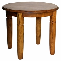 Round Mesquite End Table