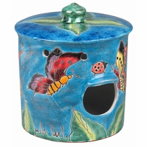Round Talavera Bird House
