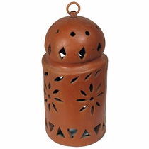 Round Terra Cotta Hanging Light