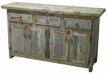 Rustic Barnwood Natural Buffet -  4 Doors