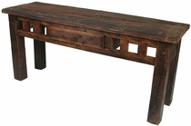 Rustic Barnwood Sofa Table with Drawer