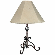 Rustic Iron Curled Leg Table Lamp