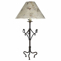 Rustic Iron Lamp with Rings